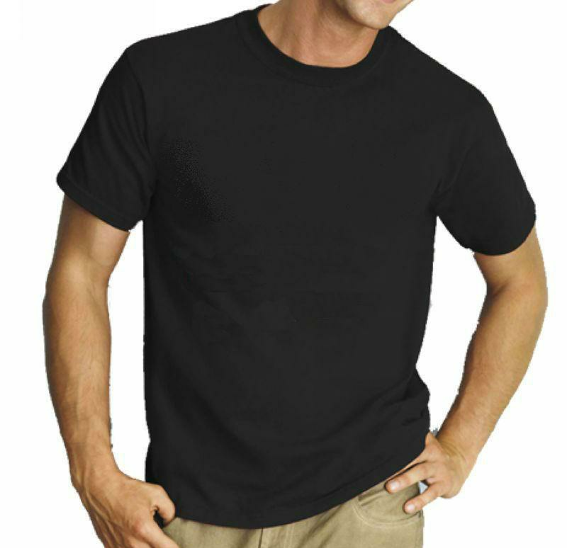 Blank cotton t shirt promotion t shirt plain black cotton for Tee shirt logo printing