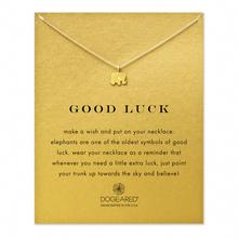 Hot Sale Sparkling Luck Elephant gold Pendant necklace short  Sparkle Elephant golden Clavicle chain 18k Statement Necklace