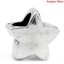 Buy DoreenBeads European Charm Beads Star antique silver 12x11mm,Hole:Approx:5mm,30PCs 2015 new for $2.00 in AliExpress store