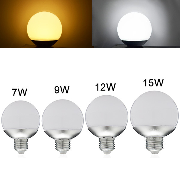 New LED Bulb E27 LED global lamp 7W 9W 12W 15W 85-265V LED Light 360 Degree SMD5730 chandelier Light Warm/Cool White A60-A90(China (Mainland))