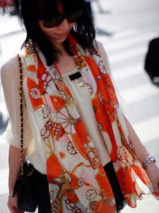 2015 fashion Korean Chiffon chain carriage scarves autumn and winter female scarf shawl dual wheels scarves(China (Mainland))