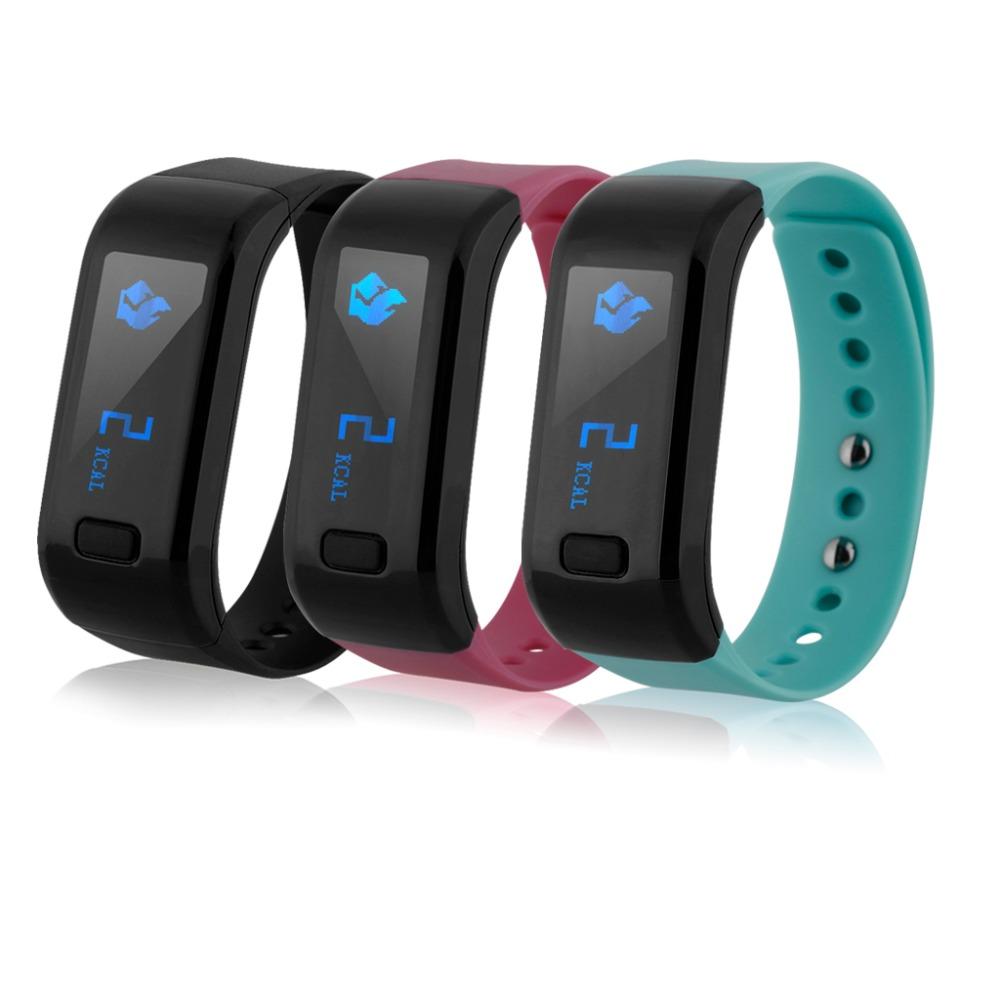 Excelvan OLED Pedometer Bracelet IP67 Waterproof Bluetooth 4.0 Wristband Bracelet for Android/IOS pulseras de actividad(China (Mainland))