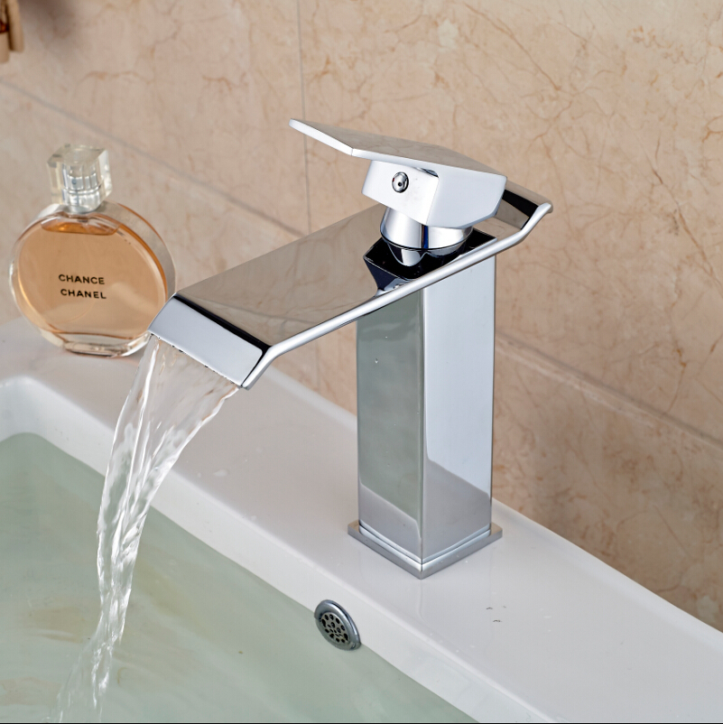7 Faucet Finishes For Fabulous Bathrooms: Free Shipping Wholesale And Retail Chrome Finish Waterfall