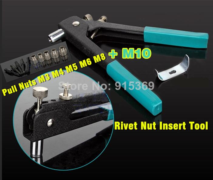 M3 M8 M10 300PCS Rivet nuts Tool KIT Rivet gun Alu rivet nuts