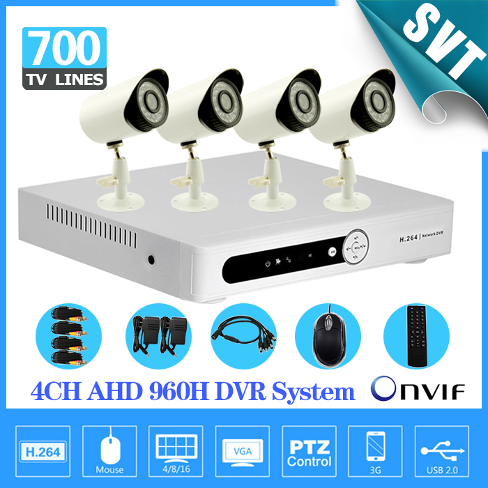 home cctv 4ch 960h AHD 3g wifi dvr nvr recording kit with 700TVL Day Night Security Camera video surveillance system 4 channel(China (Mainland))