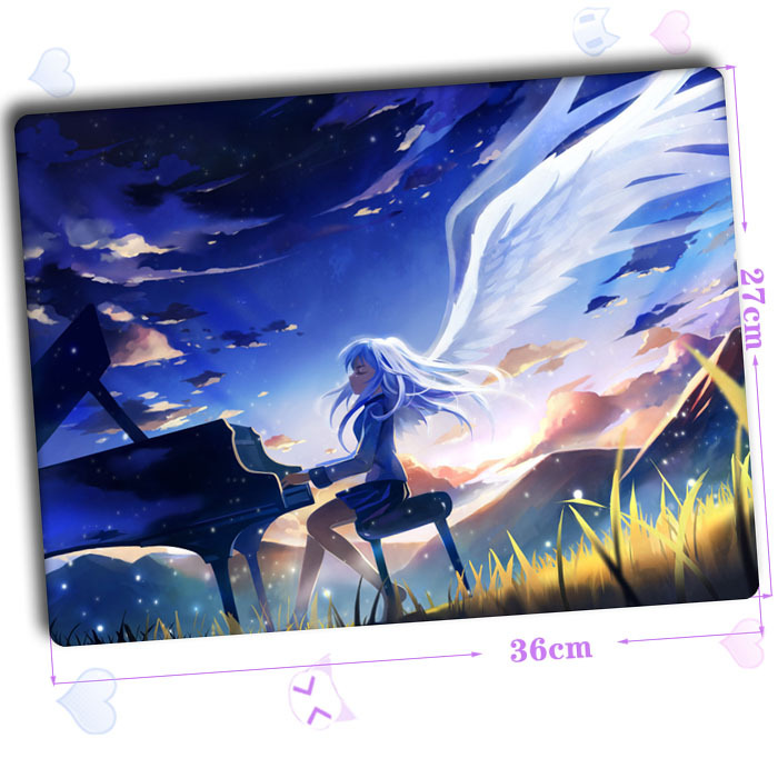 Free shipping new animation angel beats anime mouse pad for Ecran pc mat