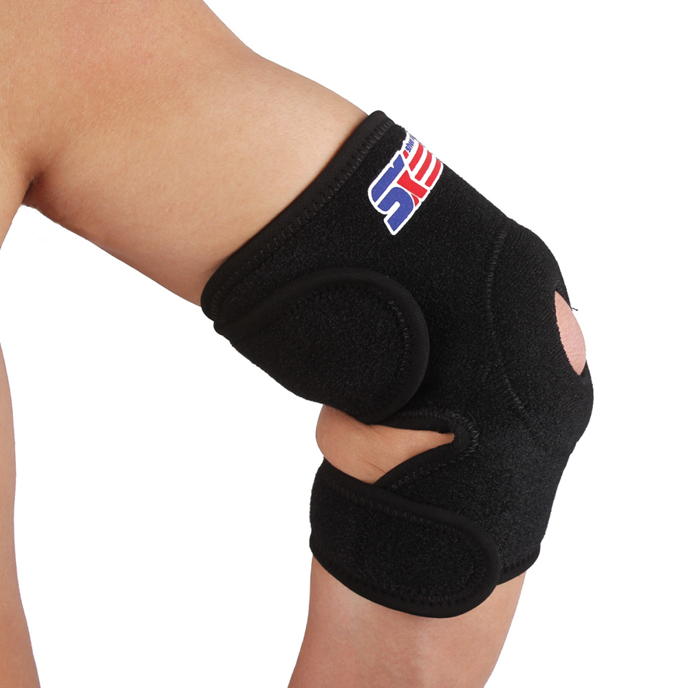 Neoprene Elbow Support Guard Breathable Elastic Brace Sports Safety Volleyball Tennis Motocross Elbow Pads Protector Black(China (Mainland))