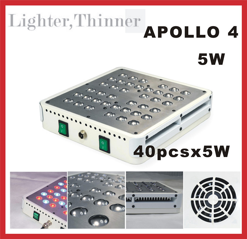 40PCS 5W LED CHIP Apollo 4 LED grow light griculture Greenhouse, grow tent, grow box, hydroponic systems(China (Mainland))
