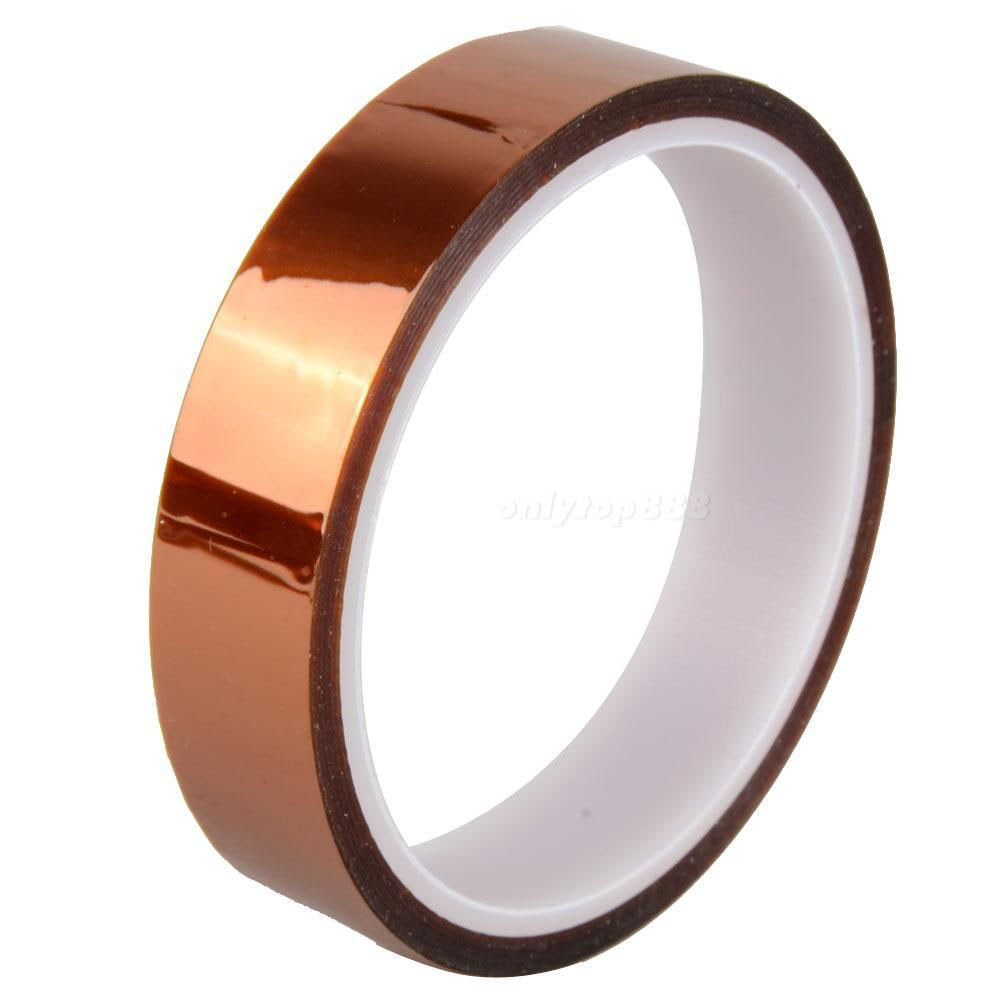 New 20mm 100ft High Temperatur Resistant Tape Anti heat Polyimide Kapton Tape Free Shipping