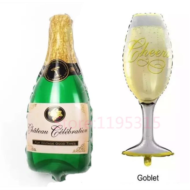 Whiskey Goblet Champagne Balloons Brand Super Big Wedding Inflatable Air Foil Balloons Party Supplies Toy Birthday Decoration #E(China (Mainland))