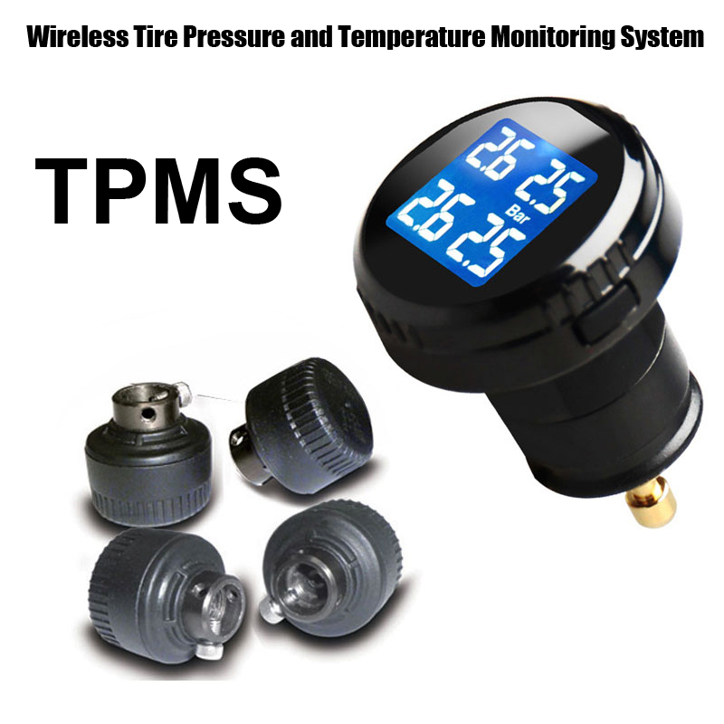 Tire Pressure Monitoring System Car TPMS with 4 pcs External Sensors high Low pressure high temperature warnings<br><br>Aliexpress