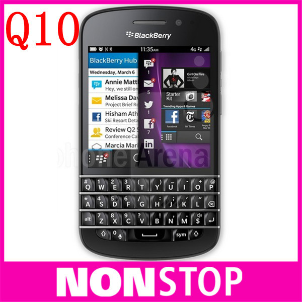 Q10 Original Blackberry Q10 Unlocked Mobile Phone 3G 4G Network 8.0MP Dual-core 1.5 GHz 2G RAM+16G ROM Refurbished(China (Mainland))