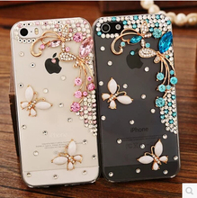 Buy Beautiful 3D flower Rhinestone Diamond Clear Crystal Butterfly Case sony Xperia E4 E4G M2 M4 Aqua C5 M5 Z5 plus Phone Cover for $2.93 in AliExpress store