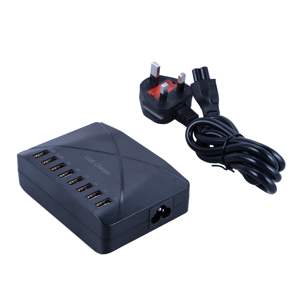 50W 8-Port High Speed USB Charger Power Adapter for Cell Phones Tablets UK Plug BC571(China (Mainland))