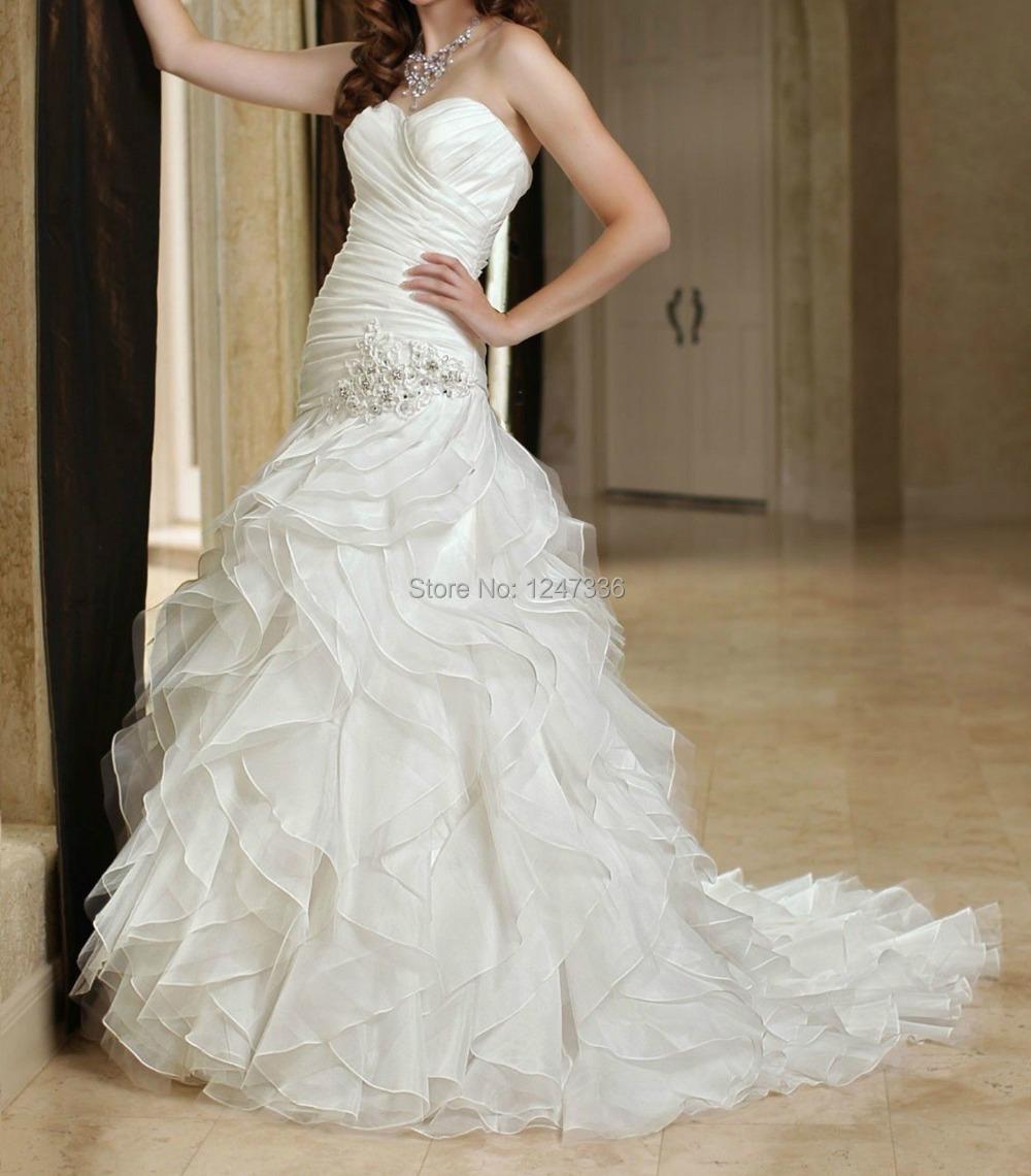 New white ivory strapless wedding dress custom all size 2 for All white wedding dress