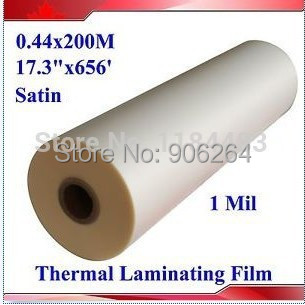 """1 free shipping Rolls 8.6""""X656' 1Mil Glossy Clear 1"""" Core Hot Laminating Films Bopp 0.22x200M for Hot Roll Laminator(China (Mainland))"""