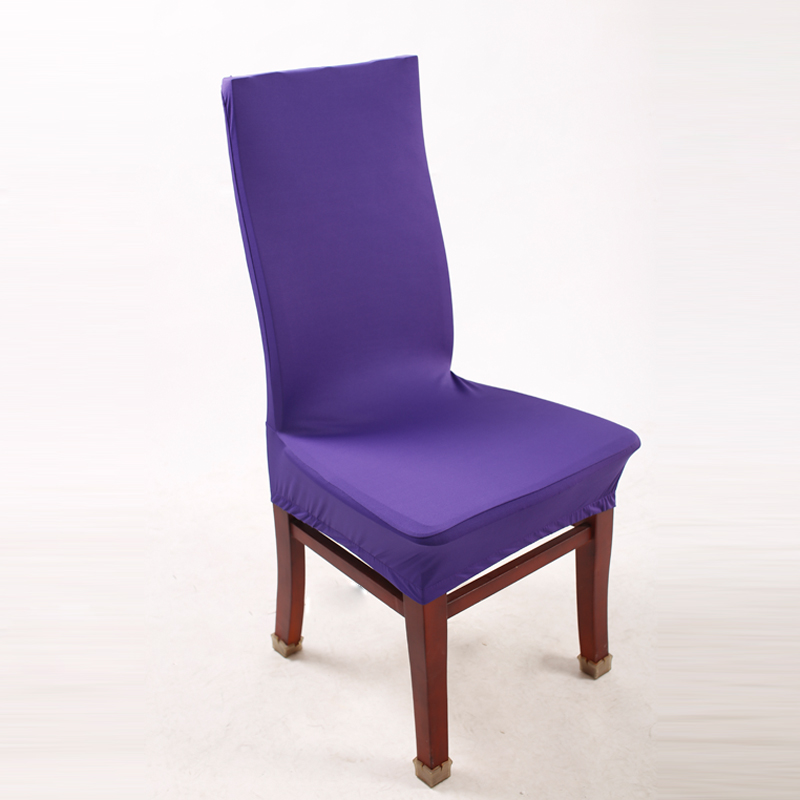 1 Piece Deep Purple Polyester Spandex Dining Chair Covers For Wedding Party Chair Cover Brown Dining Chair Seat Covers V20(China (Mainland))
