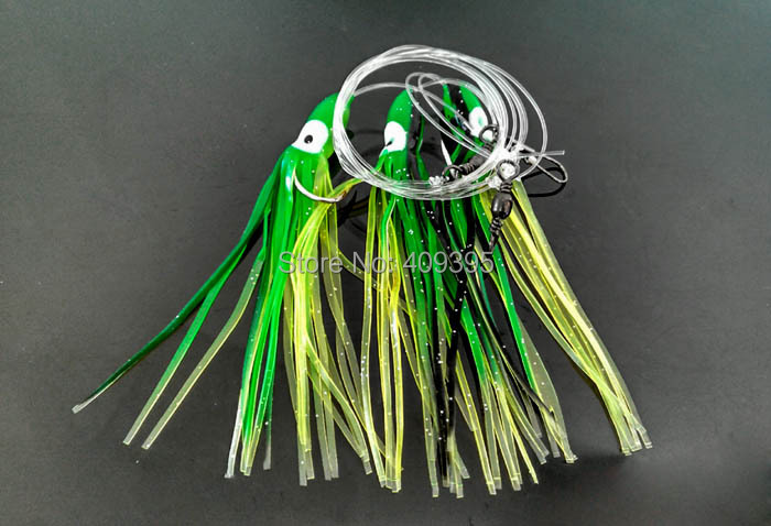 10pcs 5/0 sea rigs flasher rigs sabiki rig sea fishing rigs octopus lure sea fishing lure octopus soft fishing lure\(China (Mainland))