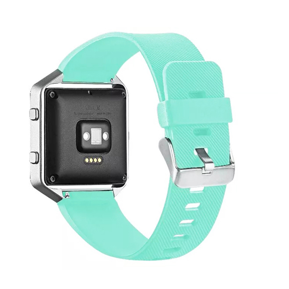 Soft Silicon Rubber Candy Color Sports Watch Band Wrist Strap for Fitbit Blaze with Metal Buckle I87.(China (Mainland))