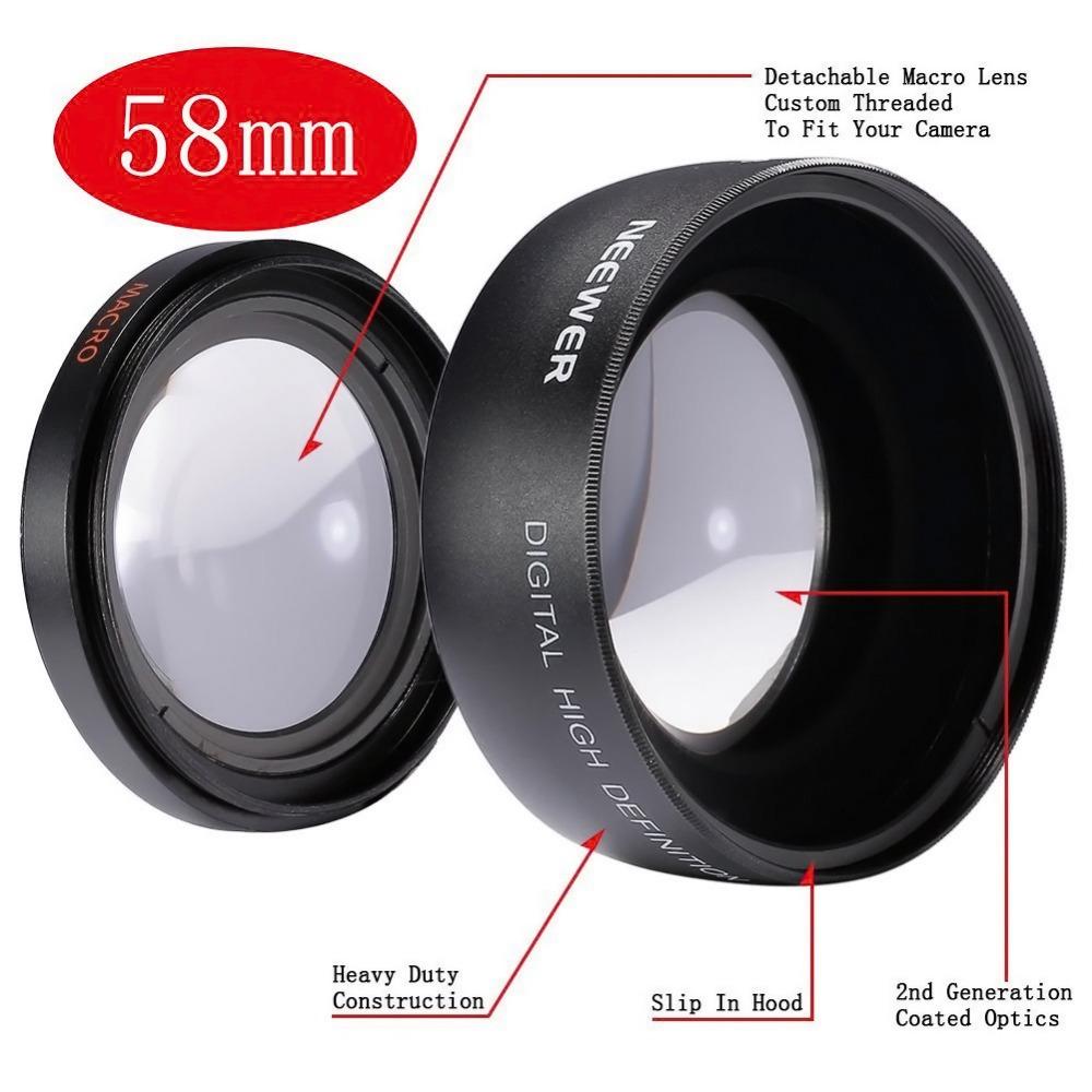 Neewer High Quality 58mm 0.45X Super Wide Angle camera Lens for Canon EOS 1100D 550D 760D 700D 600D 500D kit + Lens Bag(China (Mainland))