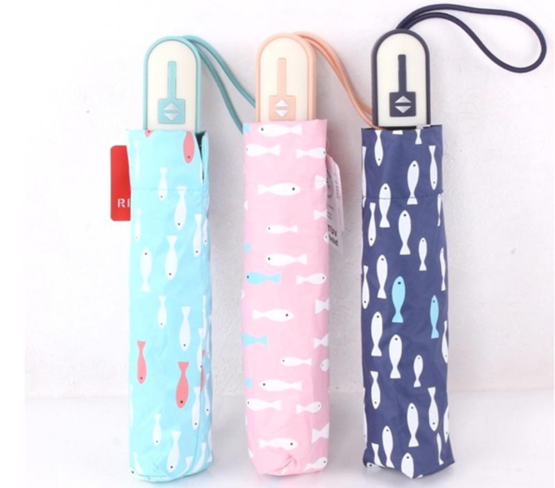 Brand quality Creative women umbrella rain brand 3 folding UV parapluie  women beach sun parasol lady sun umbrellas wholesale - us545 b4084260a25b