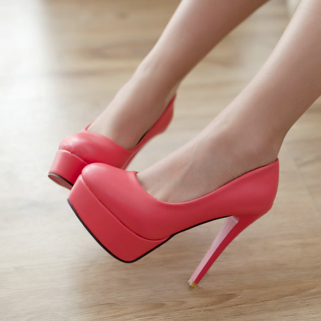 Dropshipping 2014 classic fashion platform stilettos women sexy high heels<br><br>Aliexpress