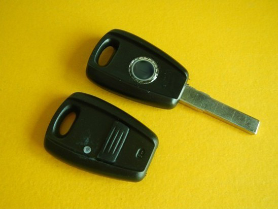 Top quality Fiat remote key shell 1 button in Black(China (Mainland))
