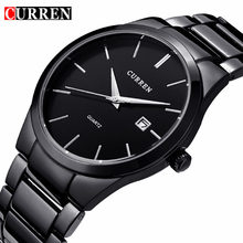 Buy CURREN Watches Mens Brand Luxury Stainless Steel Analog Quartz Watch Men Casual Sport Clock Male Black Wristwatch Montre Homme for $13.25 in AliExpress store