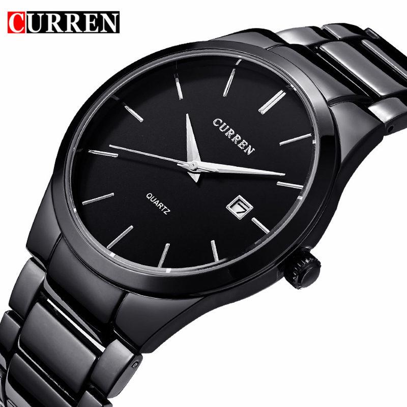 CURREN Watches Mens Brand Luxury Stainless Steel Analog Quartz Watch Men Casual Sport Clock Male Black Wristwatch Montre Homme(China (Mainland))