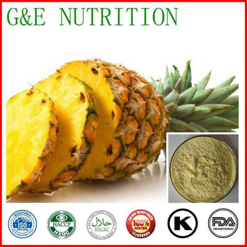 600g Factory Price Bromelain/ Pineapple/ Ananas comosus Extract Powder with free shipping