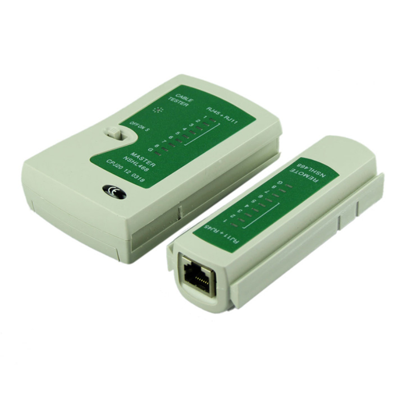 Hot-sale Network Lan Cable Tester Cat 5 / Cat 5e / Cat 6 / UTP Cables Connector Adapter with RJ-11 & RJ-45 1 pc(China (Mainland))