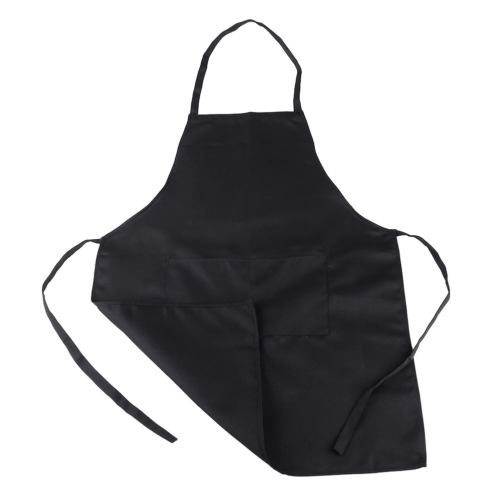 Fashion Women Housewife Solid Kitchen Restaurant Bib Lady Apron with Pocket(China (Mainland))