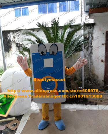 Lifelike Blue Smartphone Smart Phone Mobile Phone Cellphone Handset Cell Cellular Phone Mascot Costume Cartoon Character NO.9763(China (Mainland))
