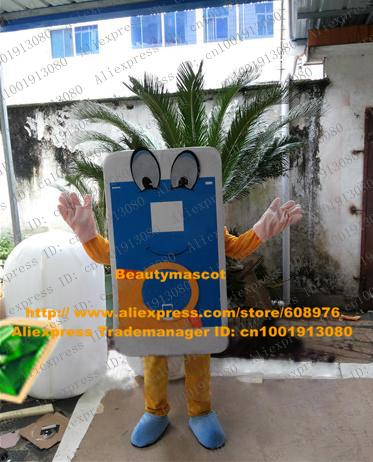 Lifelike Blue Smartphone Smart Phone Mobile Phone Cellphone Handset Cell Cellular Phone Mascot Costume Cartoon Character NO.9763(China (Mainland))