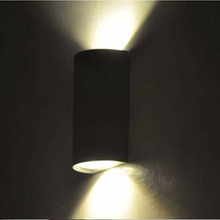 Semicircle surface mounted outdoor led lighting,10W led outdoor wall light,AC85-265V up down led wall lamp 2pc/lot(China (Mainland))
