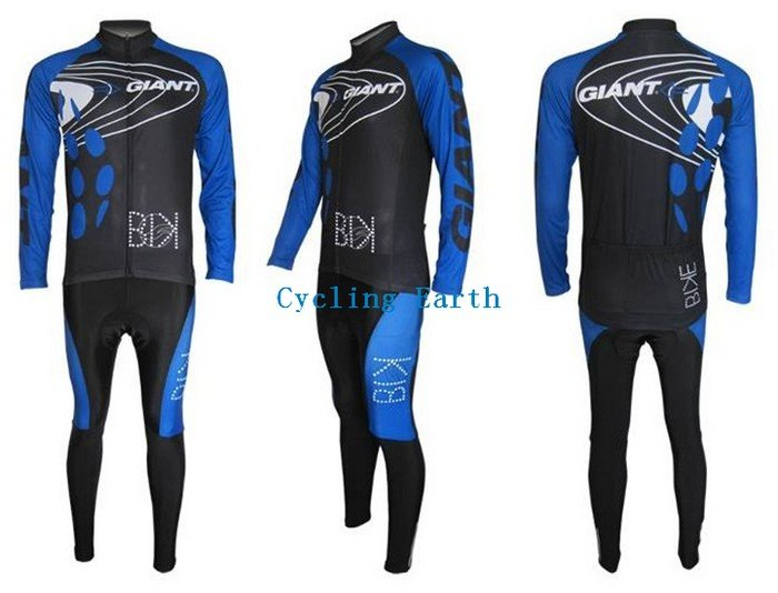 Hot Sale!!! 2010 GIANT long sleeve cycling wear clothes bicycle/bike/riding jerseys+Z123 sets<br><br>Aliexpress