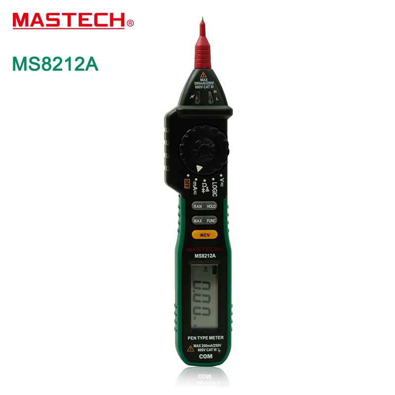 Mastech MS8212A Multi-function Pen-type Digital Multimeter Auto Range Logic Level Continuity Diode Test Non-contact Tester<br><br>Aliexpress