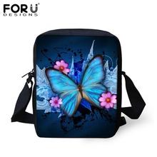 FORUDESIGNS Fashion Women Messenger Bags Butterfly Shoulder Travel Bag Girls Sunflower Crossbody Bag,Small Female Mini Handbag(China (Mainland))