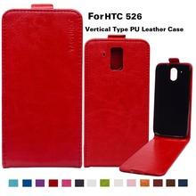 Деловой стиль вверх вниз флип чехол для HTC Desire 526 526 г 526 г + 326 326 г кожаный чехол с вертикальной магнитного телефон обложка сумки