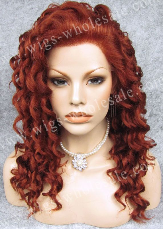 DHL  short   synthetic  lace front wigs short curly wig N3-350 auburn<br><br>Aliexpress