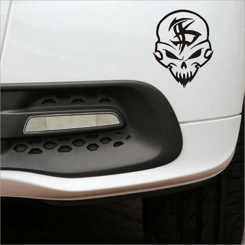 1PC 11*14cm Car Styling Ghost Rider Funny Skull Decals for Car Stickers on Car Body Comic Streeing-wheels Motorcycle Car Sticker(China (Mainland))