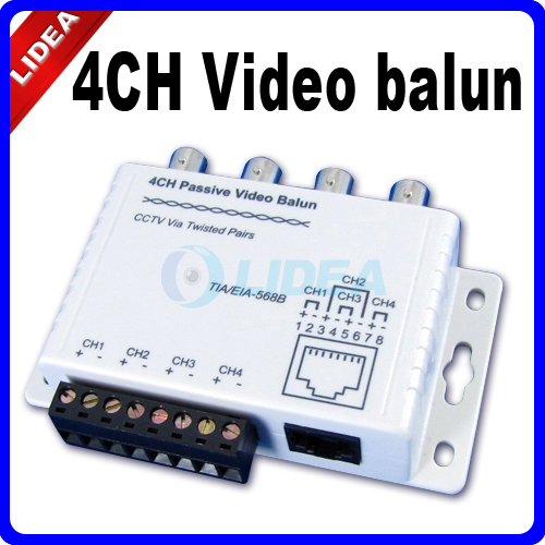 CCTV 4CH Video to UTP Balun BNC RJ45 Camera DVR HK B-09(China (Mainland))