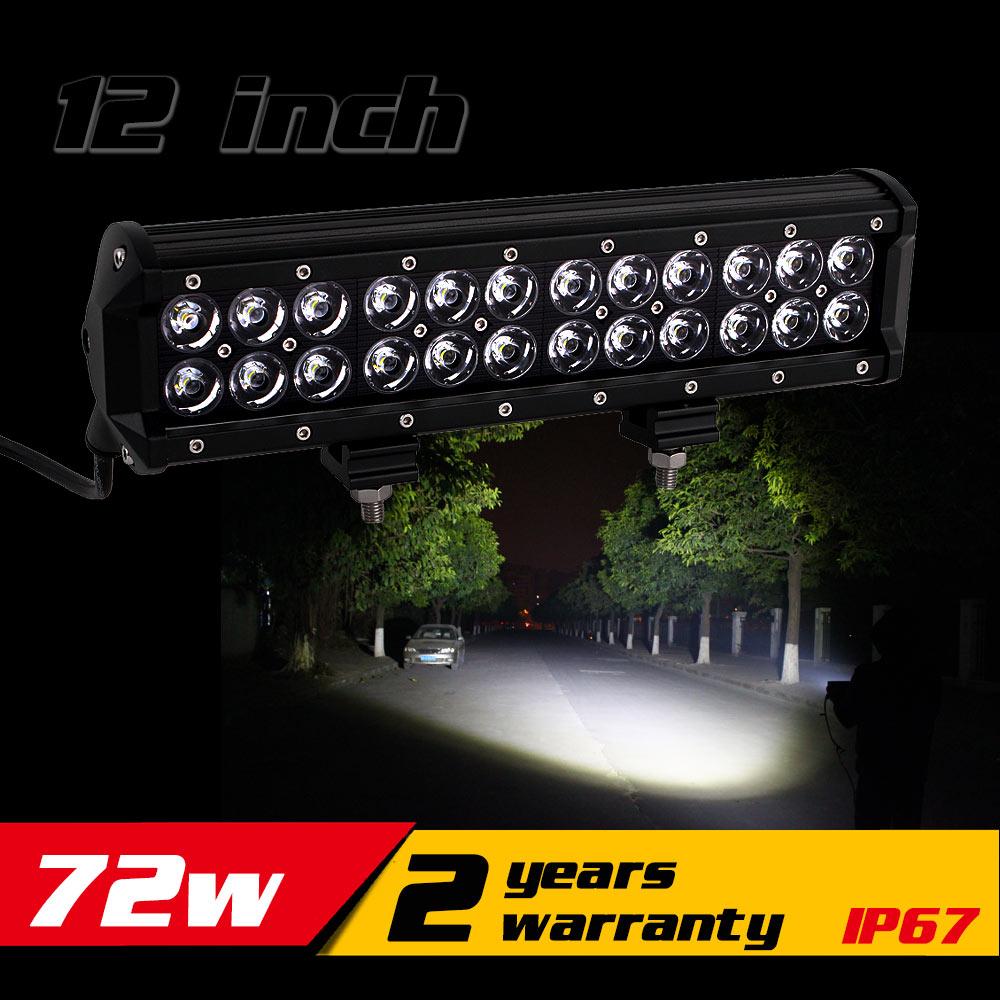 12inch 72w LED Light Bar IP67 Tractor ATV LED Offroad Light Bar 4X4 LED Bar Offroad Fog Light Drive Light Save on 60w(China (Mainland))