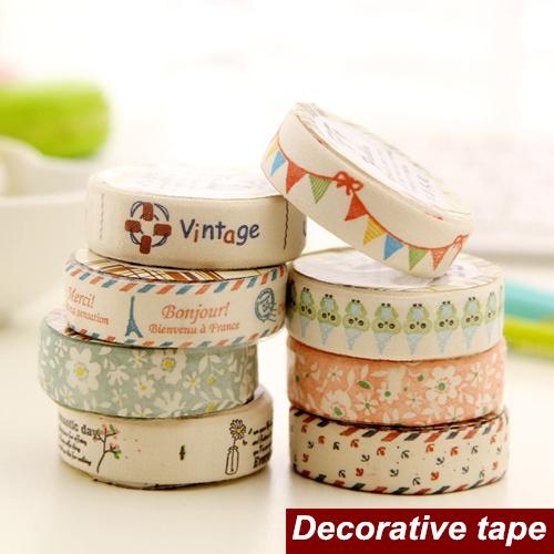 8 pcs lot canvas masking tape vintage paris washi printing tapes cintas adhes - Boutique masking tape paris ...