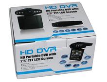 Wholesale 20pcs/lot 6 LED Light H198 Car DVR Camera 120 Degree 2.5 LCD Night Vision Car Driving Recorder F198 Retail Box(China (Mainland))