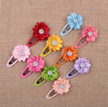 Newest Children Hair Accessories Flower Solid BB Clip Hair Clip Baby Hair Band Infant Bobby Pin Girl Hairpin headwear(China (Mainland))