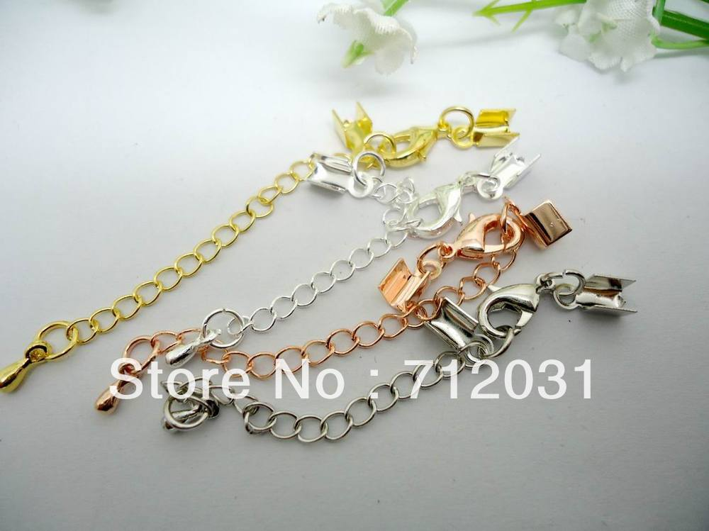 Jewelry cord accessories craft chain end caps for necklace