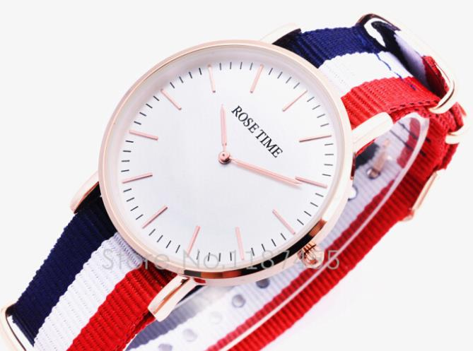 2015 news Style watches, quartz watch, classic canvas band,International brand watch free shipping(China (Mainland))
