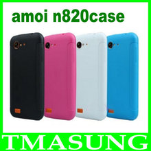 Free shipping new arrival Xiaxin Amoi N820 silicon case For amoi n820 N821 phone + 1x Screen Protector(China (Mainland))
