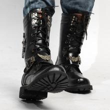 military tactical boots men winter Anti-cold men combat boots fashion vintage autumn snow men bota masculina shoes black 37-45